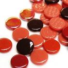 Penny-pärlor, Röd Mix, 50 g