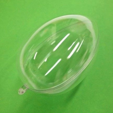 Plastic egg, 2 parts., 12 cm, crystal