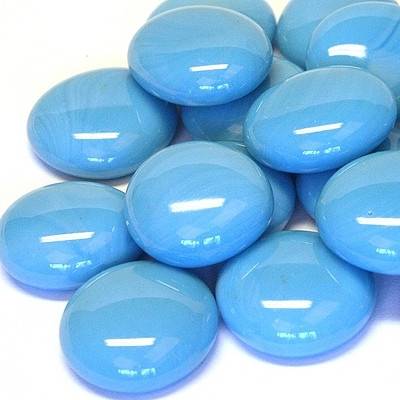 Glass Gems, 500 g, Turquoise Marble