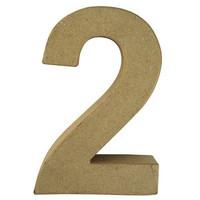 Papier-mâché number, 15x9,4x3 cm, 2