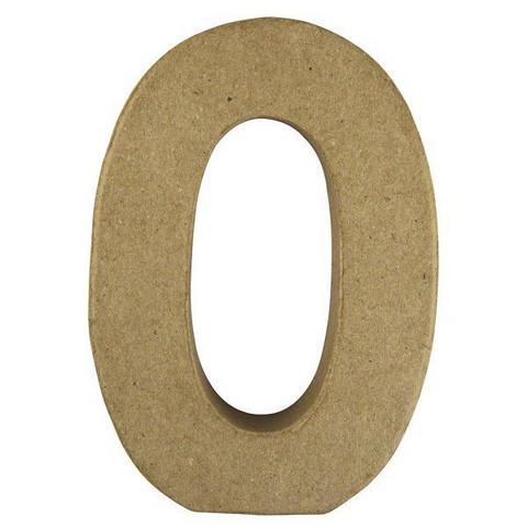 Papier-mâché letter, 15x10,5x3 cm, O
