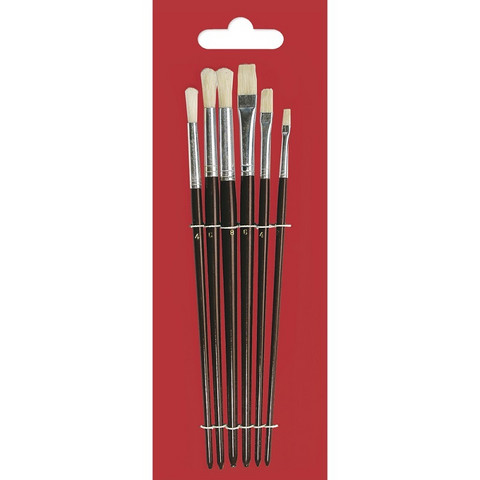 Oil Painting Brush Set, 6 sizes