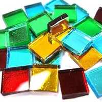 Mirror Mosaic, Multicolor Mix, 2x2 cm, 125 g