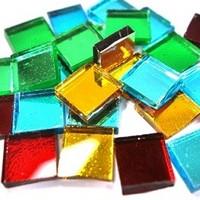 Mirror Mosaic, Multicolor Mix, 1x1 cm, 125 g