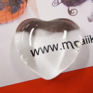 Glass heart, 2,5 cm, 1 pcs