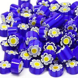 Millefiori, Blue-Yellow Flower, 50 g