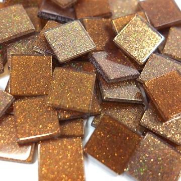 Akryylimosaiikki, Glitter, Chestnut, 50 g