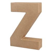 Papier-mâché letter, 15x10,5x3 cm, Z