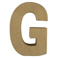 Papier-mâché letter, 15x10,5x3 cm, G