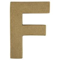 Papier-mâché letter, 15x10,5x3 cm, F