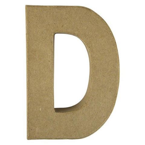 Papier-mâché letter, 15x10,5x3 cm, D
