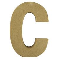 Papier-mâché letter, 15x10,5x3 cm, C