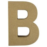 Papier-mâché letter, 15x10,5x3 cm, B
