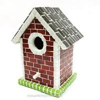 Birdhouse, Dark Red, DIY
