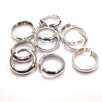 Ring, wide, 10 mm, 10 pcs