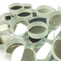 Spegelmosaik, Silver, runda, 12 mm, 125 g