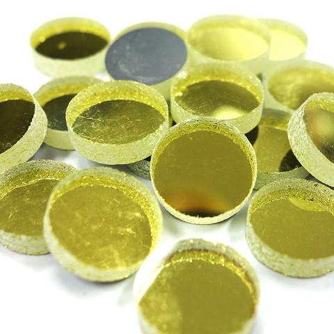 Peilimosaiikki, Kulta, pyöreä, 12 mm, 50 g