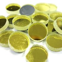 Mirror Mosaic, Gold, round, 12 mm, 500 g