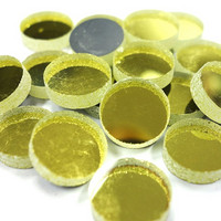 Spegelmosaik, Guld, runda, 12 mm, 500 g