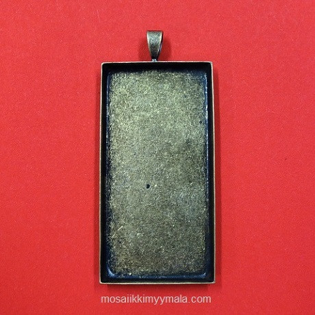 Pendant base, 51x26 mm, rectangle, c. bronze