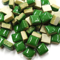 Mini Glazed Ceramic, Green, 81 pcs