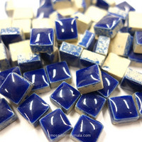 Mini Glazed Ceramic, Blue, 81 tiles