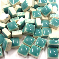 Mini Glazed Ceramic, Teal, 150g