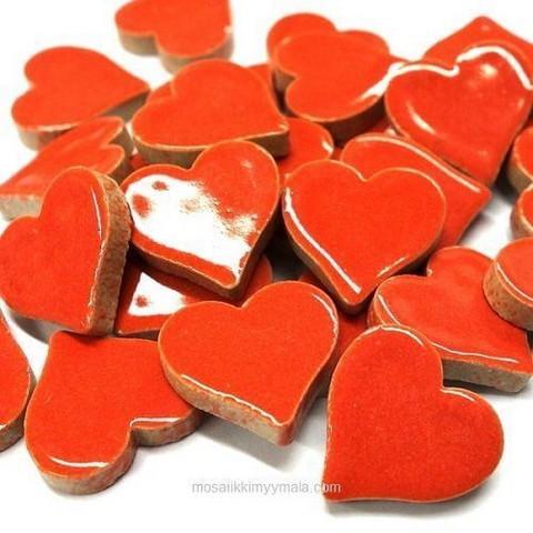 Keraamiset sydämet, Punainen, 50 g