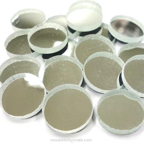 Peilimosaiikki, Hopea, pyöreä, 20 mm, 125 g