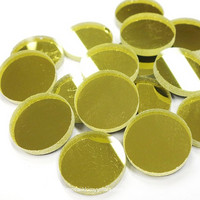 Mirror Mosaic, Gold, round, 20 mm, 500 g