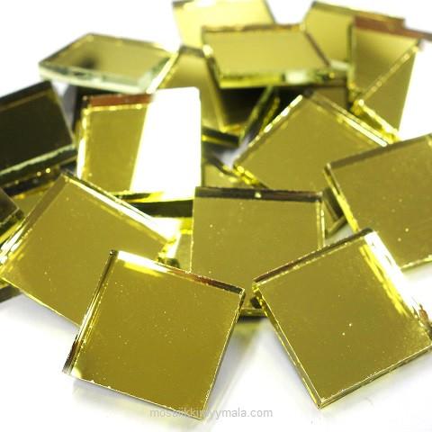 Spegelmosaik, Guld, 2x2 cm, 500 g