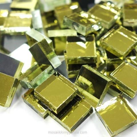Spegelmosaik, Guld, 1x1 cm, 50 g