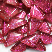 Soft Glass Glitter, Fuchsia 100 g
