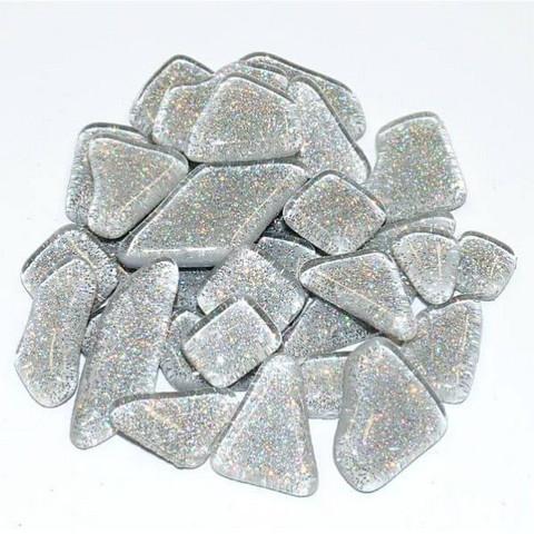 Soft Glas Glitter, Silver 1 kg