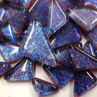 Soft Glass Glitter, Prussian Blue 200 g