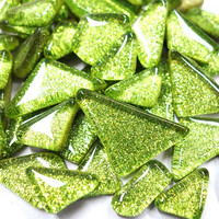 Soft Glass Glitter, Lime 500 g