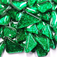Soft Glass Glitter, Green 500 g