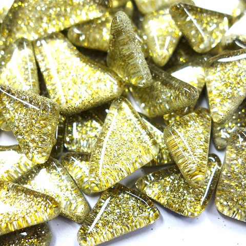 Soft Glass Glitter, Kulta-Hopea 500 g