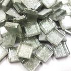Mini Glitter, 1x1 cm, Silver 100 g