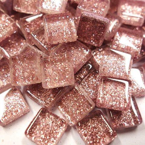 Mini Glitter, 1x1 cm, Pink 100 g
