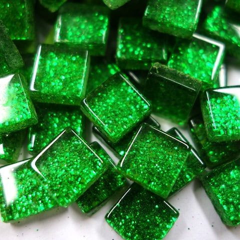 Mini Glitter, 1x1 cm, Green 100 g