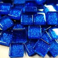 Mini Glitter, 1x1 cm, Blue 100 g