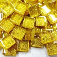 Mini Glitter, 1x1 cm, Gold 100 g