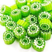 Millefiori, Green Flower T40, 50 g