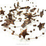 Deco garland Stars, copper