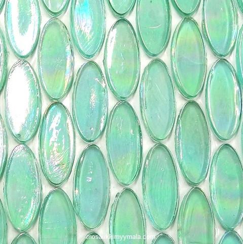 Ellips, Aqua, 5 st, transparent