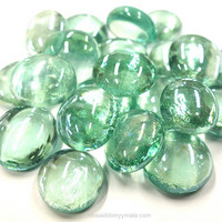 Glass Gems, 100 g, Ice Blue, transparent