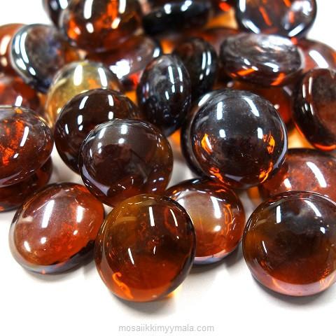 Glaspärlor, 500 g, Dark Amber, transparent