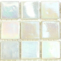 Iridescent 15mm, Cotton White 100 tiles