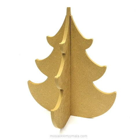 MDF Christmas tree, 18 cm